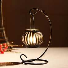 1PC Zakka tin iron candle holder Home Furnishing small ornaments candlestick stand for home holiday decoration metal craft J1134