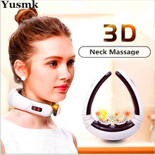 Yusmk Electric Neck Kneading Massager Cervical Vertebra Shiatsu Neck Massager for Spondylosis Pain Relief Machine