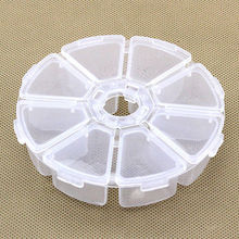 1Pcs 8 Slots Storage Box Case Organizer Display Jewelry Bead Makeup Clear Round Rangement Maquillage(China)