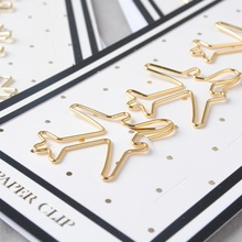 Free shipping Office stationery gold clip Small clip metal bookmark folder nice gift plane stars shoes befriend metal paper clip