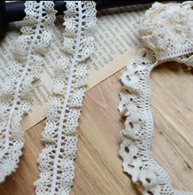 5 Meters High Qualtiy 2.2cm/2.1cm Width 2 Designs  Knit Elastic Cotton Lace Fabric Crochet Stretch Lace Trim Ribbon