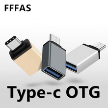 FFFAS USB 3.0 Type-C OTG Cable Adapter Type C USB-C OTG Converter for Xiaomi Mi5 Mi6 Huawei P9 P10 Mouse Keyboard USB DIsk Flash(China)