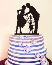 Anniversary Cake Toppers Personalized Wedding Decoration Cake Topper Wedding Mr & Mrs with Kids Modern Toppers Love Decoration