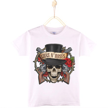 2017 New Arrival Children Clothes Hard Rock Guns N Roses Print Kids T-shirt 100% Cotton Boys T Shirts Girls Tops Tee Baby Tshirt