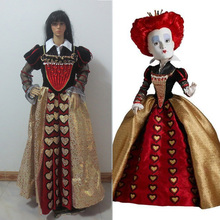 Alice in Wonderland The Red Queen Cosplay Queen of Hearts Cosplay Costume(China)