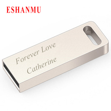 Eshanmu superior quality can custom your name and Logo 128MB 2GB 4GB 8GB 16GB 32GB usb flash drive stick pen drive with logo(China)