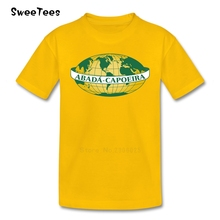 T Shirt Capoeira Rythms Kids Cotton Short Sleeve O Neck Tshirt children's Tee Shirt 2017 For Sale T-shirt For Boys Girls(China)
