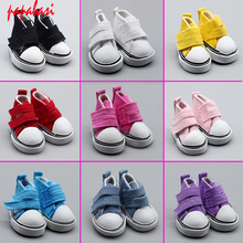 1Pair shoes 5cm Fashion Denim Canvas Mini Toy Shoes For Tilda 1/6 Bjd Snickers Doll Accessories