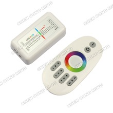 2.4G RGB LED controller Touch pannel LED controller 12V/24V 12A Wireless 2.4G Finger touch ring Remote 288Watt for LED RGB Strip(China)