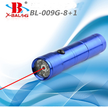 8 LED Mini Flashlight+ Red Laser Pointer 2 in 1 Led Flashlight Torch Multifunction  Most Powerful Flashlight Multi Flashlight