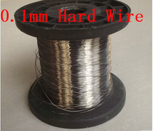 0.1mm Dia Hard Condition SS304 Stainless Steel Wire Industry DIY Material,about 100 meters(China)