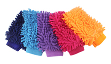 Fashion Hot Snow Neil fiber double coral type high density Car wash mitt gloves towel Mop(China)