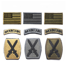 3pc/lot U.S 10th Mountain Division Patch military insignia hook&loop us army morale patches SWAT ISAF for acket(China)