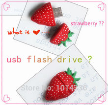 Wholesale delicious cute strawberryusb flash drive  cool fruit   plastic cartoon  usb flash drive gift   creative Pendrive  S546