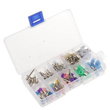 New 100pcs dentist tool kit Pieces Dental Polishing Brush Polisher Prophy Rubber Cup Latch Colorful Buff Nylon Bristles