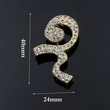 Guangzhou Factory direct sale New designs Wholesale Thailand King mourning crystal Ribbon brooch pin(China)