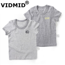 VIDMID Children's T-shirt Boys T-shirts Baby Clothing Little 1-7 years Boy Summer Tees Designer Cotton Cartoon Clothes 4003(China)