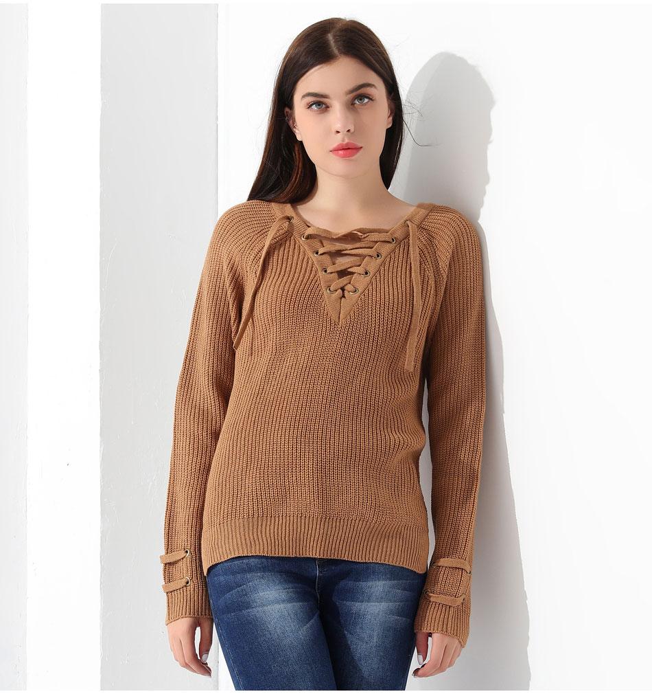 Women's Pullover Long Sleeve KnittedSweater 35