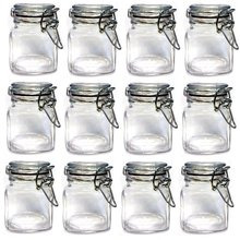Set of 12pcs Mini Glass Clip Top Spice Storage jars USD33.00 for 12pcs/Each USD2.75(China)