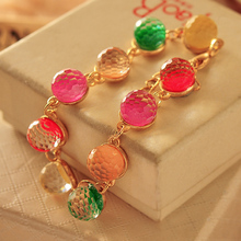 Sell like hot cakes elegant temperament lovely colorful candy color restoring ancient ways of beads crystal beads bracelet