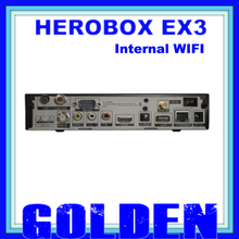 10PCS HEROBOX EX3 HD WIFI  support DVB-S2+T2/C BCM7358 752MHZ MIPS Processor 512MB RAM  10pcs