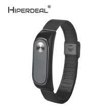 Buy HIPERDEAL Fashion Lightweight Stainless Steel Smart Wrist Watch Strap Xiaomi Miband 2 Black Smart Watch Oct10 for $5.03 in AliExpress store