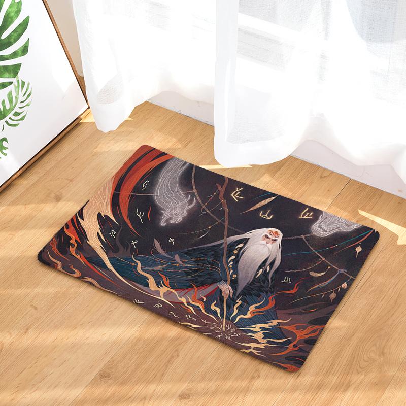 Flannel Floor Mats Myth Printed Bedroom Living Room Carpets Cartoon Pattern  Mat For Hallway Anti Slip Tapete   Us902