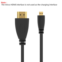 Micro HDMI to HDMI Cable 2M Gold-Plated 1.4 3D 4K 1080P High Premium Cable Adapter for HDTV XBox Mobile Phone PC Table Cable(China)