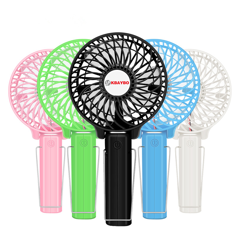 Foldable Hand Fans Battery Operated Rechargeable Handheld Mini Fan Electric Personal Fans Hand Bar Desktop Fan(China)