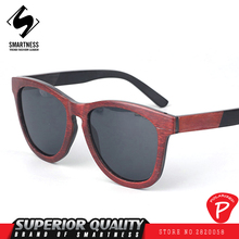 New 2017 French designer European and American pop all-match wooden frame sunglasses wooden frame black walnut UV400 glasses(China)