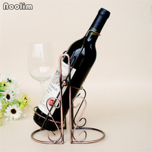 NOOLIM Metal Swing Inverted Wine Tray Creative Iron Wine Rack Nice Practical Wine Holder Metal Craft Home Kitchen Bar Decor