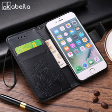 AKABEILA leather Cases For Samsung Galaxy Trend Plus GT S7580/Trend Duos GT S7562 Flip Cover Painted Case Card holder Phone Bags(China)