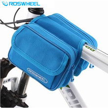 ROSWHEEL Coloful Bicycle Front Tube Bag Mountain Bike Cycling Rack Frame Pannier MTB Para Bicicleta Basket Pouch Accessories(China)