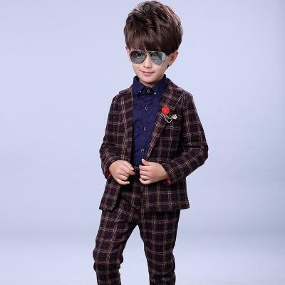 School uniform for Boys Formal Suits for Weddings Party Brand Child Blazer Pants Set Kids Gentleman Children Clothing Sets B41<br>