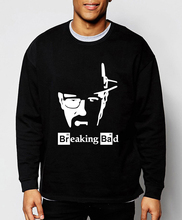 Breaking Bad Heisenberg Walter White figure print men sweatshirt 2017 hot sale spring winter fashion hoodie men fleece tracksuit