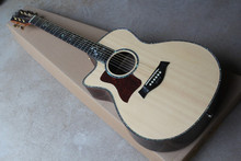 Ebony finggerboard 41-inch cutaway  916 natural wood color left handed acoustic guitar ballad, Spruce,fishman pickup EQ.