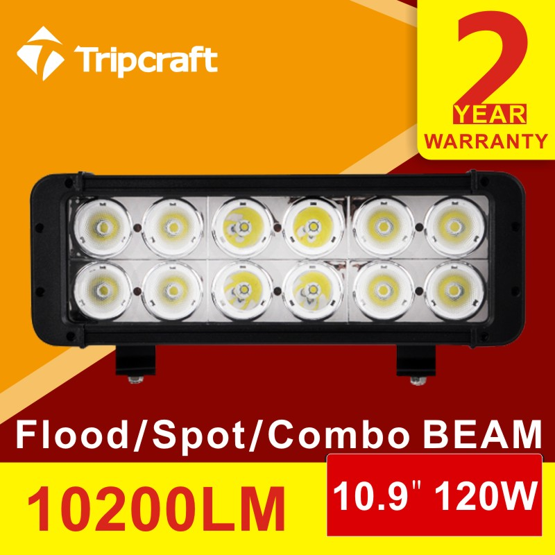 Double rows 10.9 inch 120W led light bar flood+spot combo offroad Boat Car Truck 4x4 SUV ATV Off Road Fog Lamp<br><br>Aliexpress