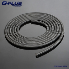 1 Foot -6 AN Nylon Stainless Steel Braided Fuel Oil Line Hose AN6 1500PSI