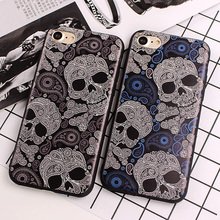 Slim Case for iPhone 7 Plus SE 5S Skull Pattern Silicone Phone Cases for iPhone 6 6S 7 Plus TPU Soft Back Cover Phone Protective