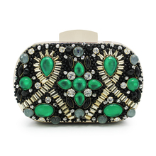 2017 Women oval Bag Famous Brand Designer Mini Handbag Shoulder Bags Luxury Beaded Bags Purse(C1010)(China)