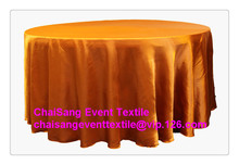 "Factory Direct Sale 10pcs #29 Burnt Orange 108"" Round Satin Table Cloth   ,Satin Table Cloth For Wedding Event Decoration"