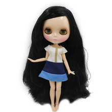 Free shipping  Nude Factory Blyth Doll Series  No.BL117 long Black hair white skin Joint body Neo