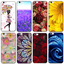 for Sony Ericsson X12 LT15i Case Beautiful Flower Printing Phone Cover for Sony Xperia Arc S LT18i Coque Phone Protective Shell