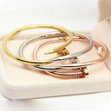 Buy Top stainless Steel carter Love nail Bracelet Women Men bracelets & bangles cuff Bangle Pulseira feminina jewelry for $6.29 in AliExpress store