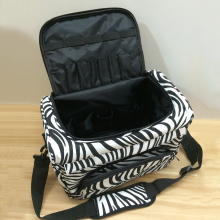 New Pro Salon Barber Hair Hairdressing Zebra Case Makeup Travel Tool Storage Bag(China)