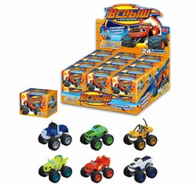 Hot Sale 6pcs/set Blaze Monster Toys Vehicle Car Pickle Zeg Darrington Crusher Stripes Original Box Best Gifts For Kids
