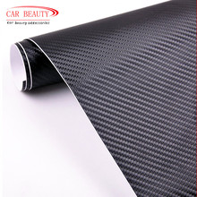 New 2017 Car Styling 50*200cm DIY Waterproof Car Stickers 3D Car Carbon Fiber Vinyl Many Color Available Decorative Film Paper(China)