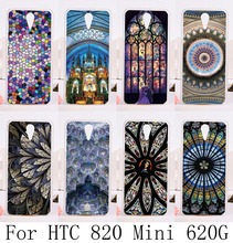 Soft Silicon TPU & Plastic Covers Cases For HTC Desire 620G HTC Desire 820 Mini D820mu 5'' Cases Dream Catcher Ethnic back cover