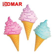 DMAR Inflatable Pool Float Ice Cream Water Toys Bath Toys Swimming Ring Circle Room Decoration Beach Mattress Mat Summer Party