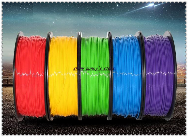 PLA 1.75mm Filament 1KG Printing Materials Colorful For 3D Printer Extruder Pen Rainbow Flexible Plastic Accessories<br>
